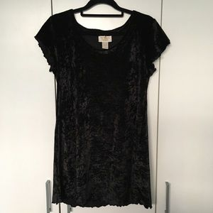 Victoria's Secret Black Dress Size 8 Velvet Feel
